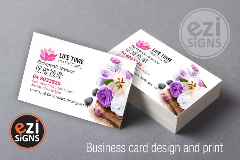 Business card printing we have designed the logo and business cards for these customers reheart Image collections